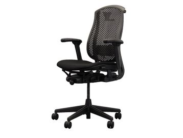 Refurbished Herman Miller Celle Chair with Re-upholstered Fabric Seat