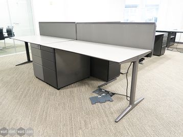 Used 1600mm Ahrend Desk with Ciranol Tops and Structural Pedestal