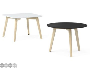 Brand New Square or Circular Coffee Tables with Stained Ash Legs