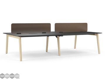 Brand New Solid Wooden Leg Desks with HPL Fenix Tops
