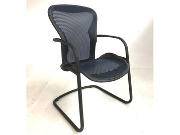 Used Herman Miller Aeron Cantilever Meeting chairs with Blue Mesh