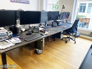 Used 1200mm Workstories Albion Bench Desks Including Accessories