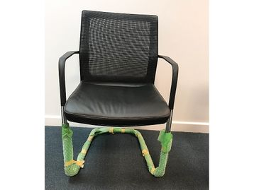 Brand New Orangebox Workday Cantilever Meeting Chairs with Black Leather Seats