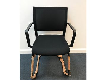 Brand New Black Cantilever Meeting Chairs