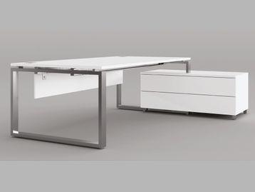 Beautiful executive desks with chrome loop Legs
