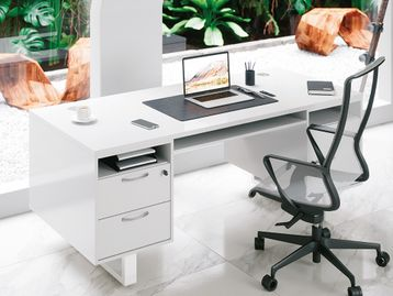 Brand New Minister's Style Desks with Integrated Storage