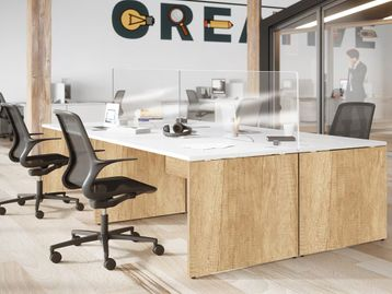 Brand New Single Desks with Contrasting Finishes