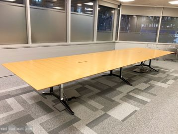 Used 5400mm WJ White Boardroom Table
