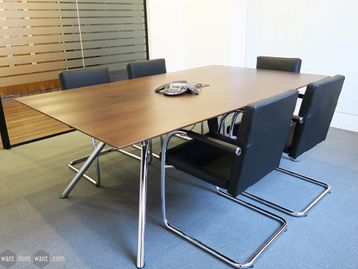 Used 2000mm Contemporary Walnut Meeting Table