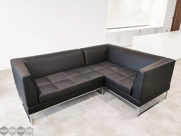 Used Marelli Leather Corner Sofa in Excellent Condition