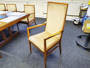 Used High Back Boardroom Meeting Chair with arms