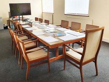 Used 4260mm Boardroom Table with Optional Glass Top