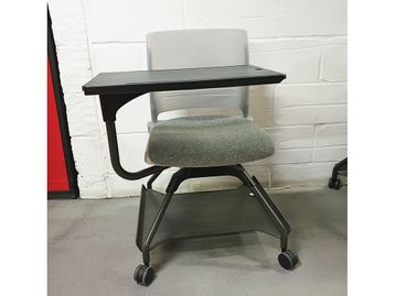 Used Upholstered Training Chairs with Writing Tablet