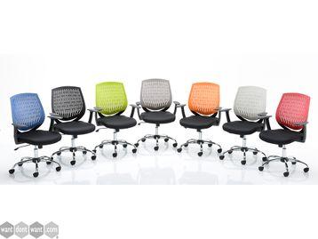 Modern task chair - Choice of Backrest Colour
