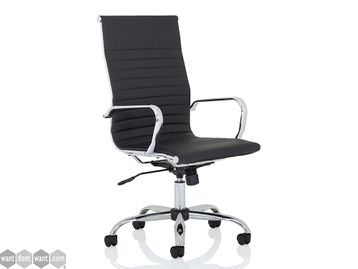 Brand New High Back Black Bonded Leather Executive Chair