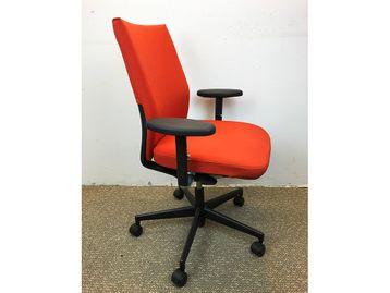 Used Vitra Axess Operator Chairs in Orange Fabric