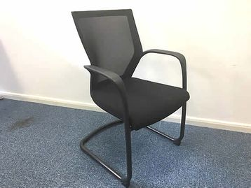 Techo Sidiz mesh back cantilever meeting chairs.