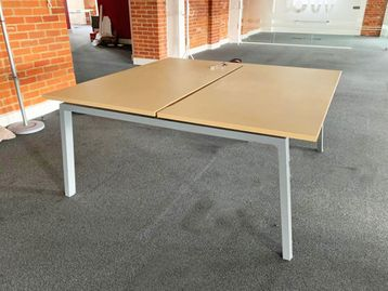 Used 1600mm Herman Miller Sliding Top Bench Desks with Cable Trays