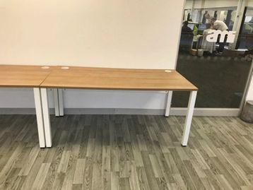 Used 1600mm Desks with White Frame