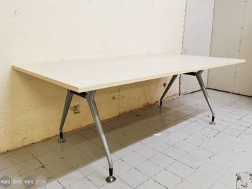 Used 2000mm Meeting Table with Modern Splayed Leg Frame