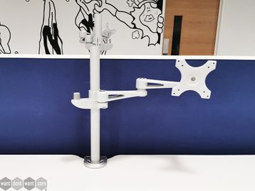Used Grey/Silver Single Monitor Arm