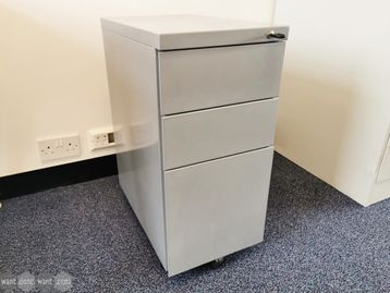 Used Slim Under Desk 3 drawer Pedestals