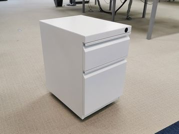 Used 2 Drawer White Steel Pedestal