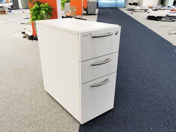 Used Slim MFC White 3 Drawer Pedestal
