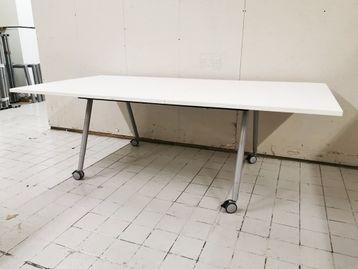 Used 2200mm Bene Folding White Tables