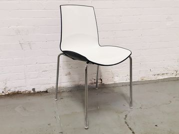 Used Connection Seating Ice Café Chair in White & Blue