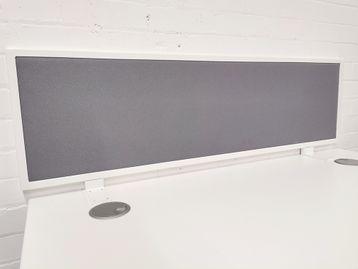 Used 1200mm Grey Desktop Dividing Screens