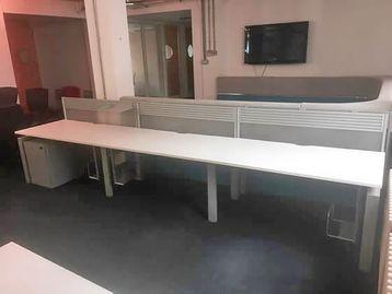 Used 1400mm Senator Freeway Single Sided Side-By-Side White Desks