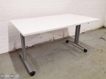 Used 1400mm Herman Miller Flip Top Folding Tables