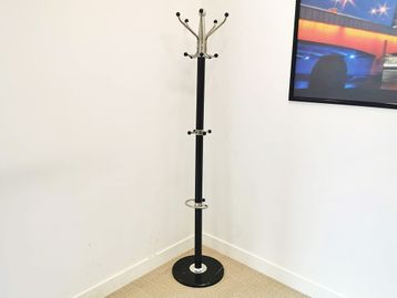 Used Hat & Coat Stand in black and chrome