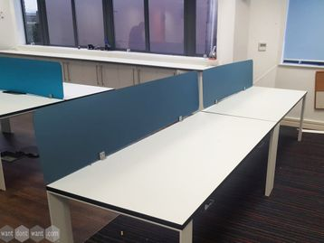 Used Acrylic Desk dividing screens
