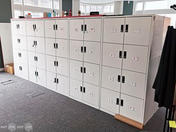Used Triumph White Steel 8 Door Lockers with Soft Close Doors