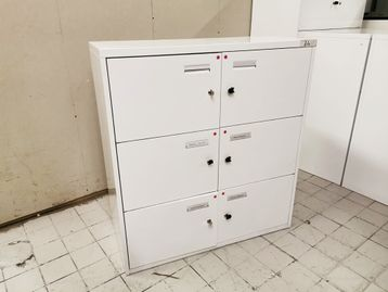 Used White 6 Door Lockers