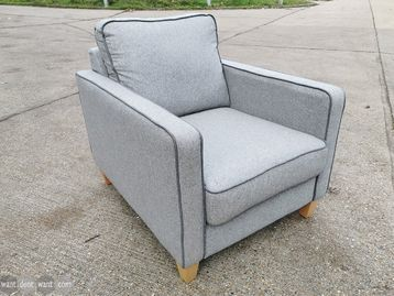 Used Grey Fabric Armchair