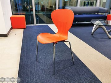 Used Orange Canteen Chairs