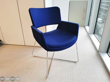 Used Connection Seating 'Korus' Chair with Chrome Wire Base