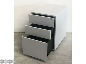 Ex Display 3 Drawer Pedestals in Grey