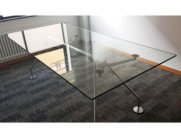 Used 2200mm Tecno Nomos Table by Sir Norman Foster