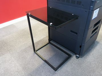 Used Black Glass Side Table