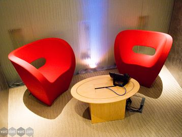 Used Moroso Little Albert Chairs in Divina 2 Fabric Red