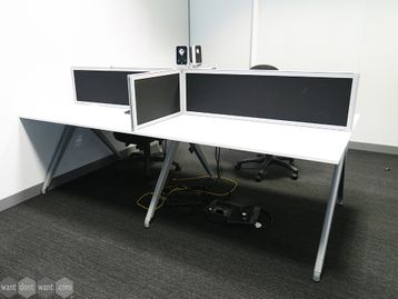 Used 1200mm Techo Bench Desk - 1 x 4 Person Available