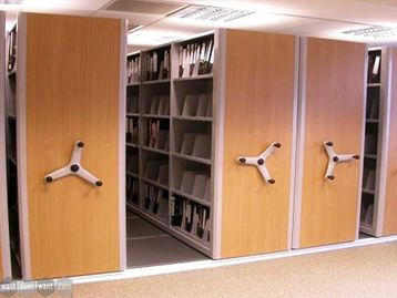Bespoke mobile storage/filing system. Office Furniture solutions