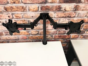 Used Duronic Twin Monitor Arm with 25mm Universal Clamp