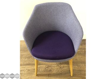 Used Frovi 'Yak' Reception Lounge Chairs in Two Tone Fabric