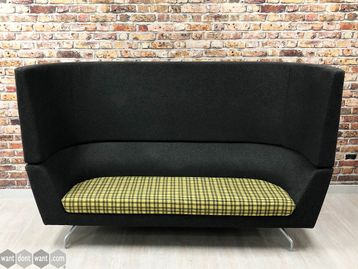 Used Orangebox 'Cwtch 09HB' High Back Sofa with Check Patterned Seat