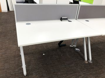 Used 1400mm Senator 'Core' Single White Desks